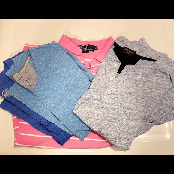 Men's Lot. Medium. Polo. Banana Republic.
